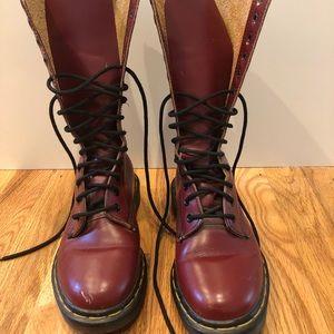 Original 90's Dr. Martens red boots, size 6